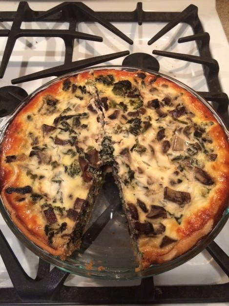 Kale Shroom Quiche